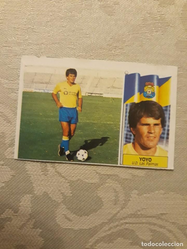 YOYO LAS PALMAS NUNCA PEGADO CON ERROR ESTE 1986 1987 CROMO FUTBOL LIGA 86 87 (Coleccionismo Deportivo - Álbumes y Cromos de Deportes - Cromos de Fútbol)