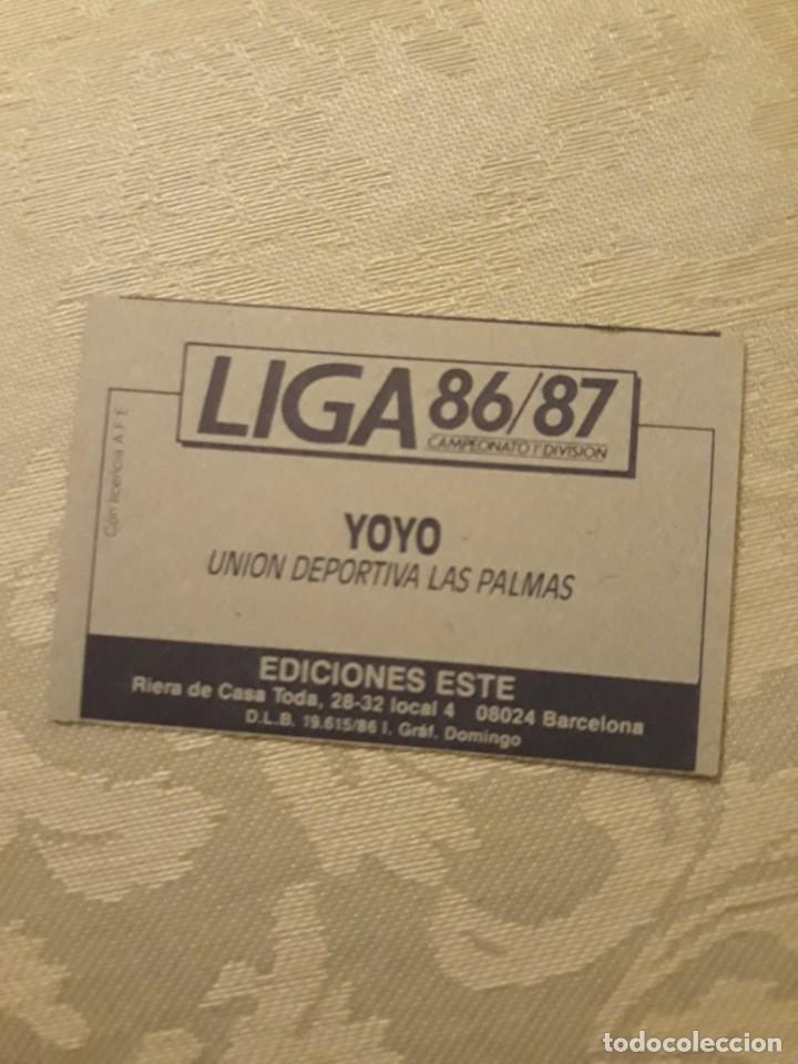 Cromos de Fútbol: YOYO LAS PALMAS NUNCA PEGADO CON ERROR ESTE 1986 1987 CROMO FUTBOL LIGA 86 87 - Foto 2 - 234904030