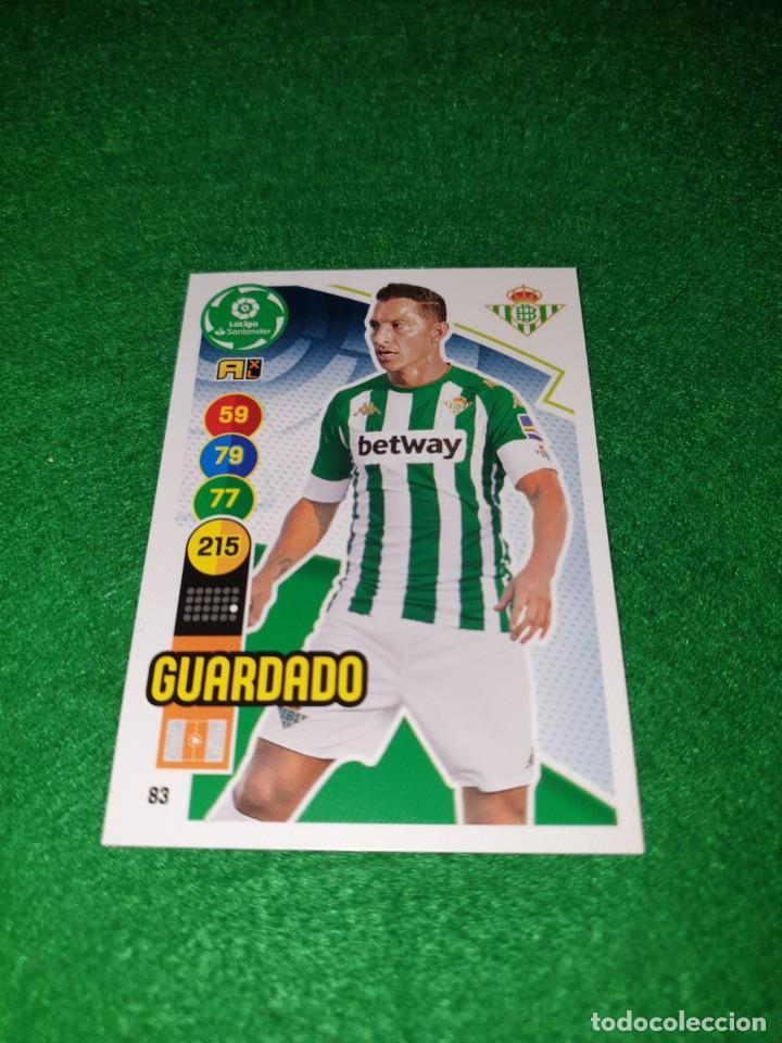ADRENALYN XL 2020 2021 20 21 CARD PANINI FUTBOL N 83 GUARDADO REAL BETIS NUEVO (Coleccionismo Deportivo - Álbumes y Cromos de Deportes - Cromos de Fútbol)