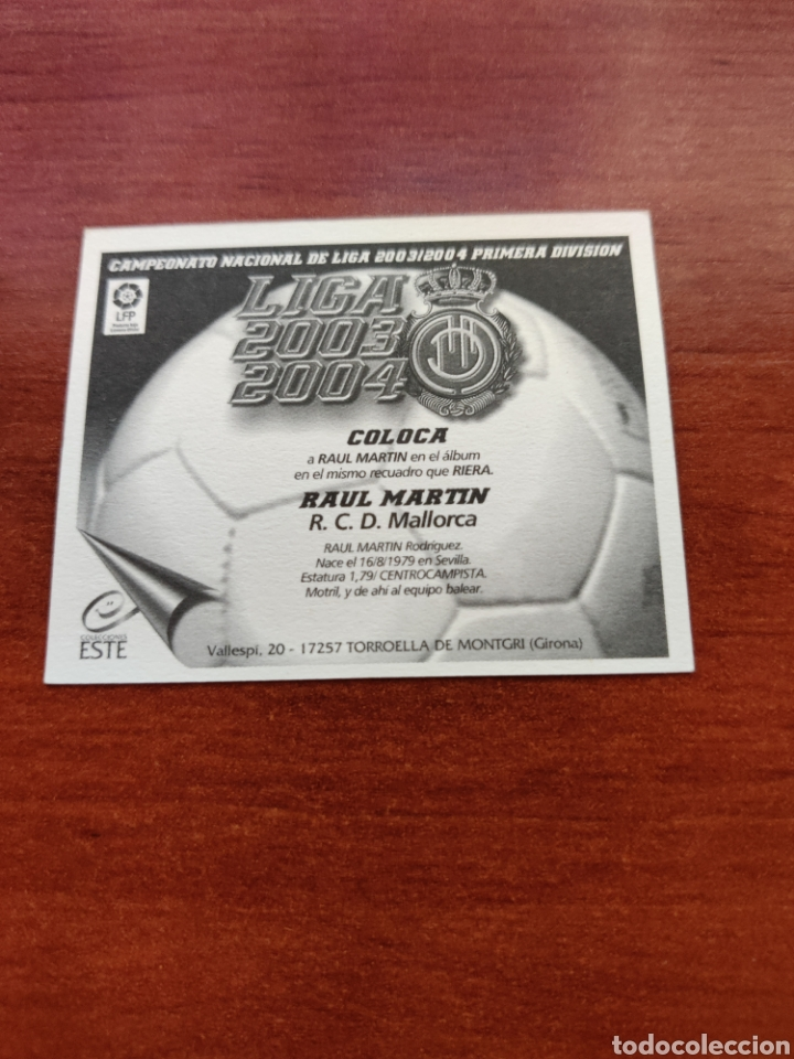 Cromos de Fútbol: Cromo Coloca Raul Martin R. C. D. Mallorca liga este 2003-2004 03-04 - Foto 2 - 234914990