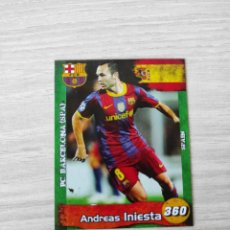 Cromos de Fútbol: CROMO ANDRÉS INIESTA FC BARCELONA ESPAÑA FOOTBALL STARS 360. Lote 235220665