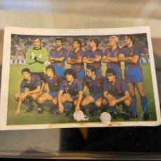 Cromos de Fútbol: FUTBOL 83 EQUIPO BARCELONA CON MARADONA. Lote 235276015