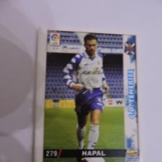Cromos de Fútbol: 279 - HAPAL - C.D. TENERIFE - LIGA 1998 - 1999 98 99 - FICHAS DE LA LIGA MUNDICROMO SPORT. Lote 235278450