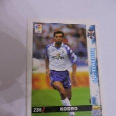 Cromos de Fútbol: 286 - KODRO - C.D. TENERIFE - LIGA 1998 - 1999 98 99 - FICHAS DE LA LIGA MUNDICROMO SPORT. Lote 235279365