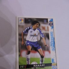 Cromos de Fútbol: 287 - MAKAAY - C.D. TENERIFE - LIGA 1998 - 1999 98 99 - FICHAS DE LA LIGA MUNDICROMO SPORT. Lote 235279480