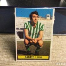 Cromos de Fútbol: LIGA 1974/ 75 ESTE - REAL BETIS - SABATE ( DESPEGADO ). Lote 235851620