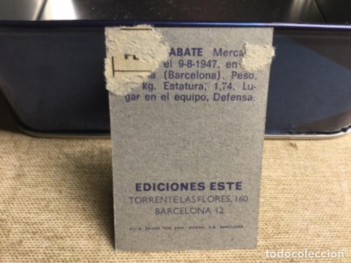 Cromos de Fútbol: LIGA 1974/ 75 Este - REAL BETIS - SABATE ( despegado ) - Foto 2 - 235851620