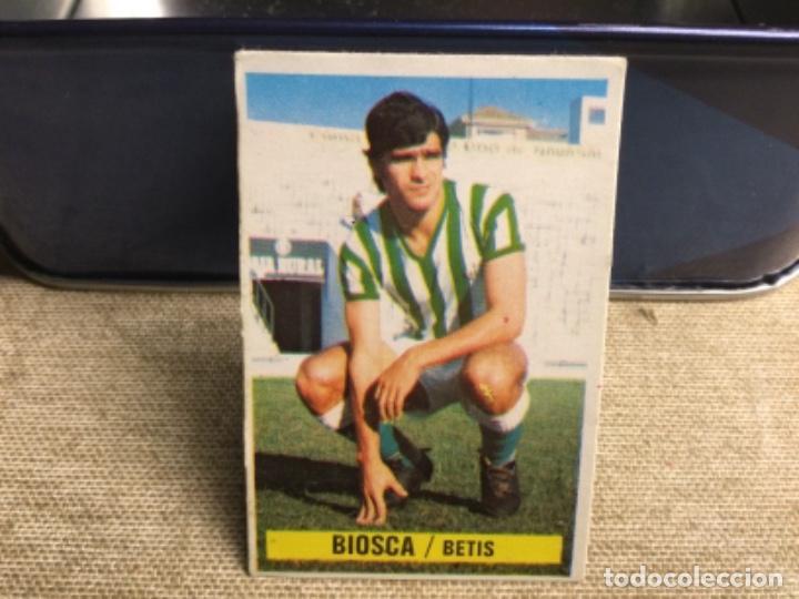 LIGA 1974/ 75 ESTE - REAL BETIS - BIOSCA ( DESPEGADO ) (Coleccionismo Deportivo - Álbumes y Cromos de Deportes - Cromos de Fútbol)