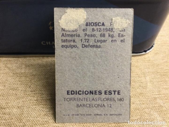 Cromos de Fútbol: LIGA 1974/ 75 Este - REAL BETIS - BIOSCA ( despegado ) - Foto 2 - 235851655
