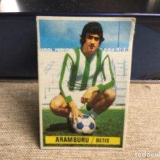 Cromos de Fútbol: LIGA 1974/ 75 ESTE - REAL BETIS - ARAMBURU ( DESPEGADO ). Lote 235851705