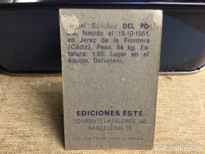 Cromos de Fútbol: LIGA 1974/ 75 Este - REAL BETIS - DEL POZO ( despegado ) - Foto 2 - 235851940