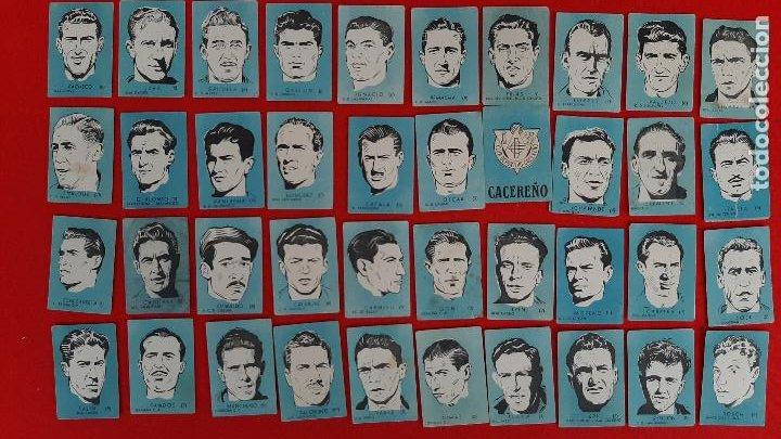 LOTE DE 40 CROMOS FUTBOL CALENDARIO DINAMICO 1951 52 NUEVOS SIN PEGAR ORIGINAL L40 CR16 (Coleccionismo Deportivo - Álbumes y Cromos de Deportes - Cromos de Fútbol)
