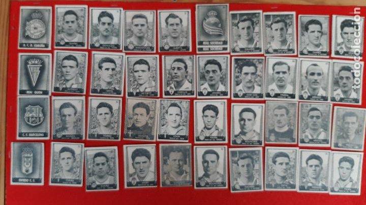 LOTE DE 41 CROMOS FUTBOL ASES DEL FUTBO 1953 BRUGUERA CHOCOLATES ROYO REQUENA ORIGINAL L41 CR16 (Coleccionismo Deportivo - Álbumes y Cromos de Deportes - Cromos de Fútbol)