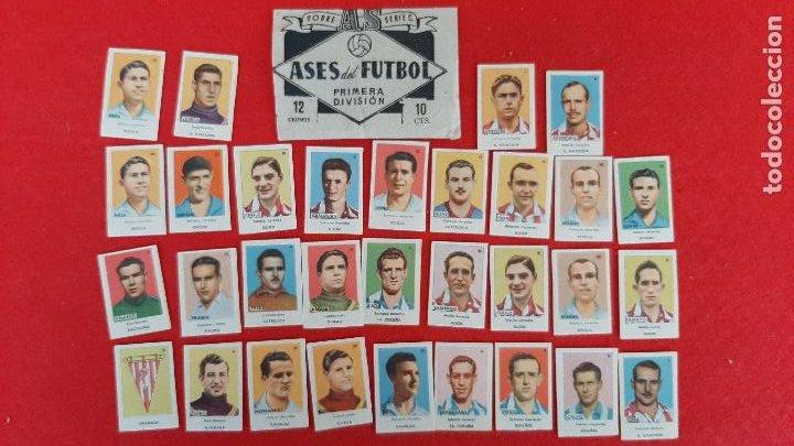 LOTE DE 31 CROMOS FUTBOL ASES DEL FUTBOL 1944 1945 44 45 BRUGUERA NUEVOS SIN PEGAR ORIGINAL L31 CR16 (Coleccionismo Deportivo - Álbumes y Cromos de Deportes - Cromos de Fútbol)