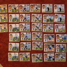 Cromos de Fútbol: LOTE DE 33 CROMOS MÁLAGA C. F. LIGA ESTE 2003-2004 03-04. Lote 236226305