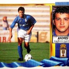 Figurine di Calcio: ANDRES - REAL OVIEDO C.F. - EDICIONES ESTE LIGA 1995 1996 95 96 - SIN PEGAR. Lote 236310805