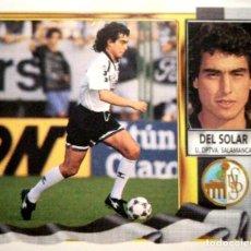 Figurine di Calcio: DEL SOLAR - COLOCA - U.D. SALAMANCA - EDICIONES ESTE LIGA 1995 1996 95 96 - SIN PEGAR. Lote 236327550