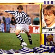 Figurine di Calcio: URIA - REAL SOCIEDAD - EDICIONES ESTE LIGA 1995 1996 95 96 - SIN PEGAR. Lote 236512325