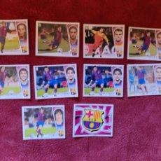 Cromos de Fútbol: LOTE DE 10 CROMOS F. C. BARCELONA LIGA ESTE 2004-2005 04-05. Lote 236538365
