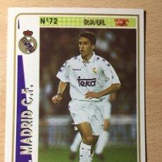 Figurine di Calcio: 1994-1995 - 72 RAUL (ROOKIE) - REAL MADRID - MUNDICROMO - 28. Lote 236658425