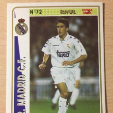 Figurine di Calcio: 1994-1995 - 72 RAUL (ROOKIE) - REAL MADRID - MUNDICROMO - 30. Lote 236658460