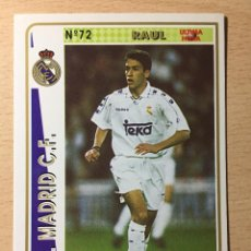 Figurine di Calcio: 1994-1995 - 72 RAUL (ROOKIE) - REAL MADRID - MUNDICROMO - 33. Lote 236659045