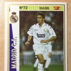 Figurine di Calcio: 1994-1995 - 72 RAUL (ROOKIE) - REAL MADRID - MUNDICROMO - 35. Lote 236659070