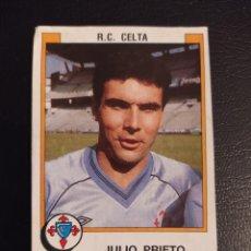Cromos de Fútbol: JULIO PRIETO RC CELTA 1988 88 PANINI RECORTADO/DESPEGADO. Lote 236845000