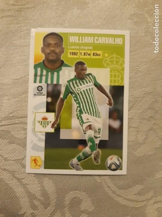 12 A WILLIAM CARVALHO BETIS LIGA ESTE 2020 2021 20 21 PANINI (Coleccionismo Deportivo - Álbumes y Cromos de Deportes - Cromos de Fútbol)