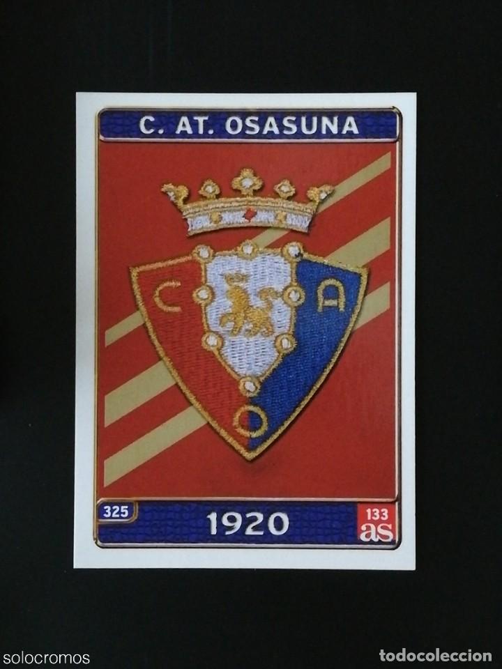 #325 ESCUDO OSASUNA 133 AS LAS FICHAS DE LA LIGA 2005 VERSION AS MUNDICROMO 05 (Coleccionismo Deportivo - Álbumes y Cromos de Deportes - Cromos de Fútbol)