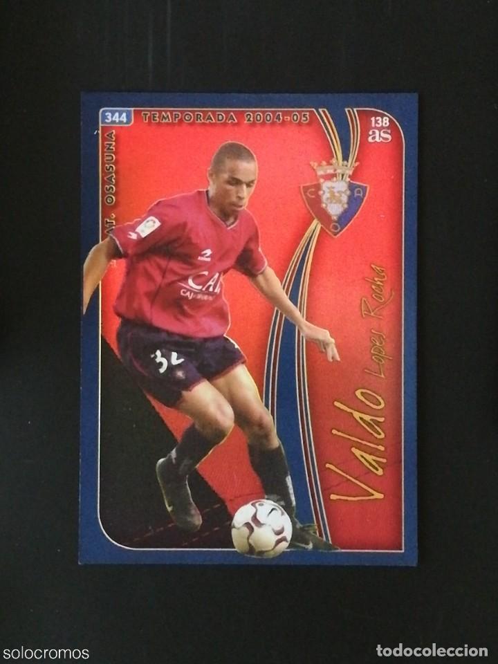 #344 VALDO OSASUNA 138 AS LAS FICHAS DE LA LIGA 2005 VERSION AS MUNDICROMO 05 (Coleccionismo Deportivo - Álbumes y Cromos de Deportes - Cromos de Fútbol)