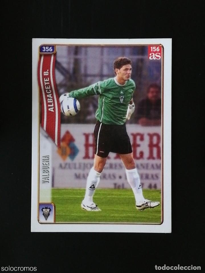 #356 VALBUENA ALBACETE 156 AS LAS FICHAS DE LA LIGA 2005 VERSION AS MUNDICROMO 05 (Coleccionismo Deportivo - Álbumes y Cromos de Deportes - Cromos de Fútbol)