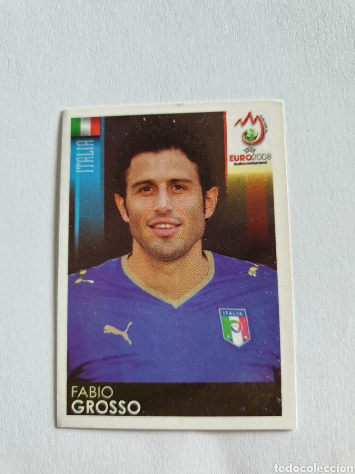 291 FABIO GROSSO ITALIA EURO 2008 AUSTRIA - SUIZA PANINI NUEVO (Coleccionismo Deportivo - Álbumes y Cromos de Deportes - Cromos de Fútbol)