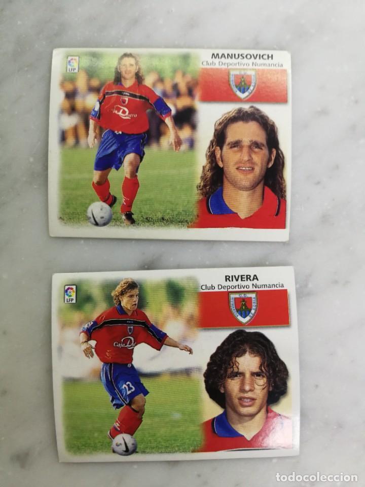 RIVERA Y MANUSOVICH, COLOCAS CD NUMANCIA, EDITORIAL ESTE 99/00, SIN PEGAR (Coleccionismo Deportivo - Álbumes y Cromos de Deportes - Cromos de Fútbol)