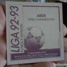 Cromos de Fútbol: AMOR BARCELONA ED ESTE CROMO SIN PEGAR NUNCA LIGA 1992 92 93. Lote 237310990
