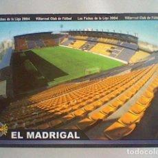 Cromos de Fútbol: MADRIGAL ESTADIO 380 VILLARREAL FICHAS LIGA 2003 2004 03 04 MUNDICROMO MC **. Lote 237358660