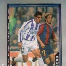 Cromos de Fútbol: OSCAR 369 VALLADOLID FICHAS LIGA 2003 2004 03 04 MUNDICROMO MC ****. Lote 237402555