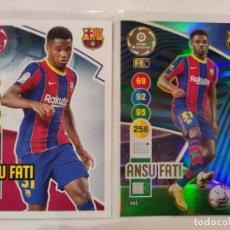 Cromos de Fútbol: ADRENALYN 20/21 ANSU FATI BARCELONA SUPERCRACK BASE NEW TOP ROOKIE 2020 / 2021. Lote 237706200