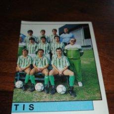 Cromos de Fútbol: ALINEACIÓN REAL BETIS, FÚTBOL 88 PANINI 87 88 N°80, SIN PEGAR. Lote 240414155