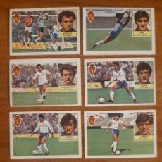 Cromos de Fútbol: LOTE 8 CROMOS DIFERENTES REAL ZARAGOZA LIGA 84-85 ESTE. NUNCA PEGADOS. Lote 240747670