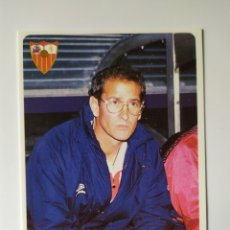 Figurine di Calcio: MUNDICROMO LAS FICHAS DE LA LIGA 1995 1996 95 96 JUAN CARLOS ÁLVAREZ CORREGIDO N° 74 SEVILLA. Lote 241033810