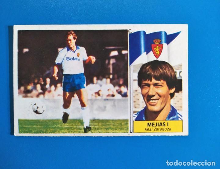 LIGA ESTE 1986 1987 / 86 87 MEJÍAS I (ZARAGOZA) FICHAJE Nº 38 SIN PEGAR (NUNCA PEGADO) (Coleccionismo Deportivo - Álbumes y Cromos de Deportes - Cromos de Fútbol)