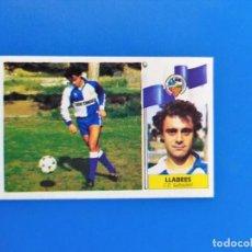Cromos de Fútbol: LIGA ESTE 1986 1987 / 86 87 LLABRES (SABADELL) COLOCA SIN PEGAR (NUNCA PEGADO). Lote 242040820