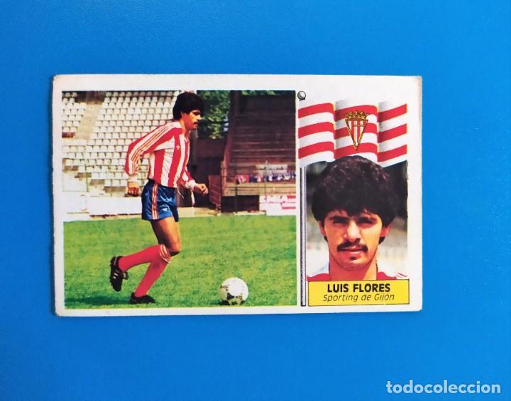 LIGA ESTE 1986 1987 / 86 87 LUIS FLORES (SPORTING DE GIJÓN) COLOCA (Coleccionismo Deportivo - Álbumes y Cromos de Deportes - Cromos de Fútbol)