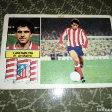 Cromos de Fútbol: CROMO LANDABURU, ÚLTIMOS FICHAJES N 3,AT. DE MADRID, EDICIONES ESTE 82 83, SIN PEGAR. Lote 242140510