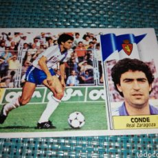 Cromos de Fútbol: CROMO CONDE REAL ZARAGOZA EDICIONES ESTE, LIGA 86 87, IMPECABLE, SIN PEGAR. Lote 243094795