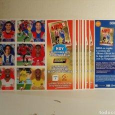 Cromos de Fútbol: LOTE DE 120 CROMOS DE FUTBOL LIGA ESTE 08 09 EN 20 LAMINAS BBVA Y MUNDO DEPORTIVO. Lote 243269450