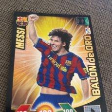 Cromos de Fútbol: CROMO MESSI BALON DE ORO 2009-10 ADRENALYN. Lote 243836950