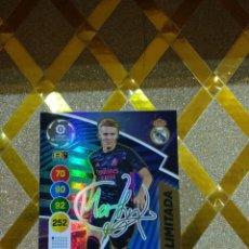 Cromos de Fútbol: CROMO DE FUTBOL CARD ODEGAARD EDICION LIMITADA FIRMADA REAL MADRID ADRENALYN XL 2020 2021 PANINI *. Lote 243912730