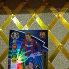 Cromos de Fútbol: CROMO FUTBOL CARD GRIEZMANN FC BARCELONA EDICION LIMITADA FIRMADA ADRENALYN XL 2020 2021 PANINI *. Lote 243993270